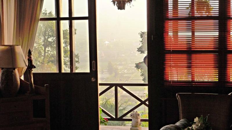 Balinese Room overlooking rice paddies